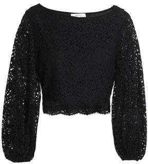 Milly Camilla Cropped Corded Lace Top
