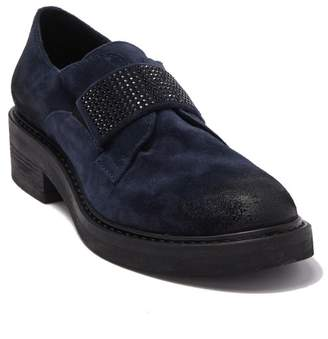 Manas Design Embellished Block Heel Loafer