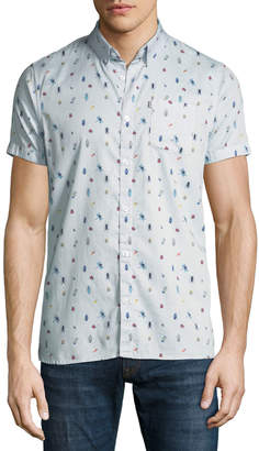 Noize Amstrdm Bag Pattern Short-Sleeve Sport Shirt