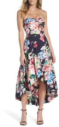 Eliza J Strapless High/Low Dress