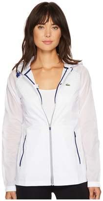 Lacoste Transparent Taffetas Hoodie Jacket Women's Coat