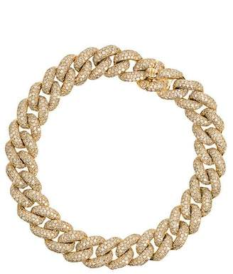 Shay Yellow gold essential link bracelet with white diamonds
