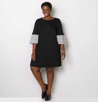Avenue Sweatshirt Ruffle Sleeve A-Line Dress