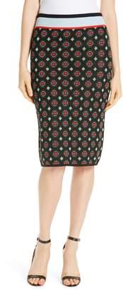 Diane von Furstenberg Hans Geo Jacquard Pencil Skirt