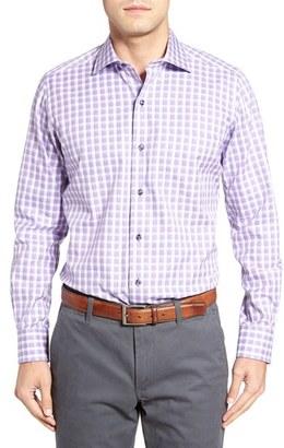 Men's David Donahue Regular Fit Check Sport Shirt $135 thestylecure.com