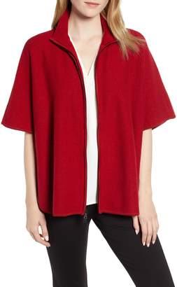 Anne Klein Zip Front Cape Jacket