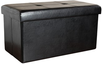 "Kennedy Home Collection 16"" x 30"" Folding Storage Ottoman"