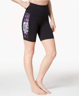 Gaiam Om Lena Print High-Rise Yoga Shorts