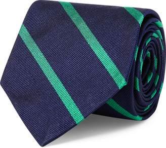 Ralph Lauren Striped Silk Repp Narrow Tie