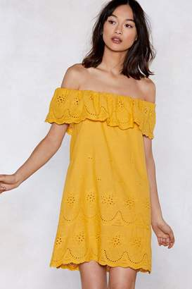 Nasty Gal Move Over Off-the-Shoulder Dress