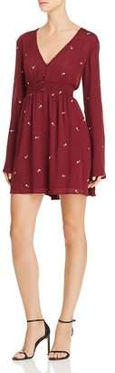 En Creme Embroidered Smocked Dress