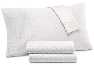 Charter Club Damask Designs Printed Geo Standard Pillowcase Pair, 500 Thread Count, Created for Macy's Bedding