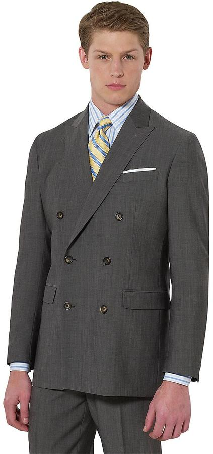 Brooks Brothers Milano Double-Breasted 1818 Suit
