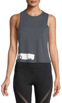 Alo Yoga Flow Graphic Racerback Lightweight Tank