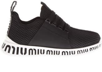 Miu Miu Contrast Heel Logo Sneakers