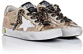 Golden Goose Kids' Superstar Laminated Glitter Sneakers - Gold