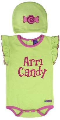"Sozo Arm Candy"" Bodysuit & Hat, 2-piece Set (Baby Boys)"
