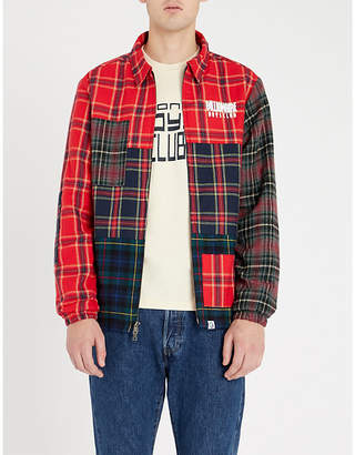 Billionaire Boys Club Contrast-checked cotton jacket
