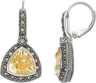 Lavish By Tjm Lavish by TJM Sterling Silver Cubic Zirconia & Marcasite Drop Earrings