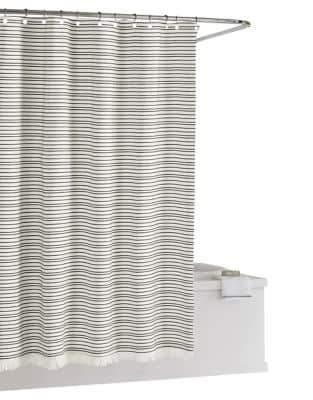 Kassatex Hasley Striped Cotton Shower Curtain