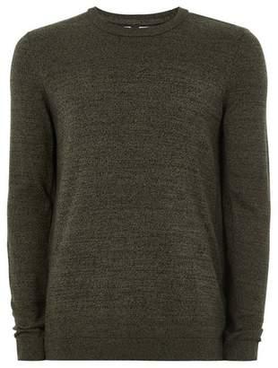 Topman Mens Khaki And Black Twist Sweater