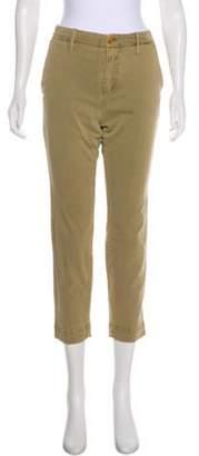 Closed Mid-Rise Straight-Leg Pants Khaki Mid-Rise Straight-Leg Pants