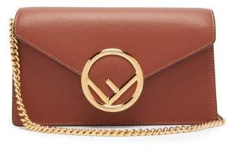 Fendi F Logo Leather Belt Bag - Womens - Brown