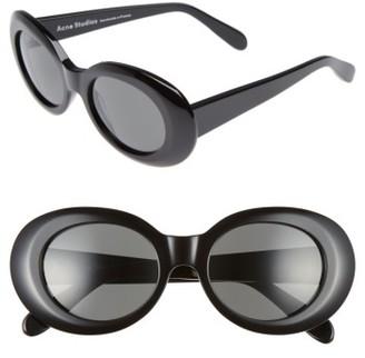 Women's Acne Studios Mustang 47Mm Oval Sunglasses - Black