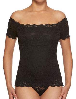 Hanky Panky Evelyn Off-the-Shoulder Lace Top