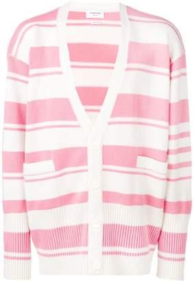 Thom Browne striped oversized cardigan