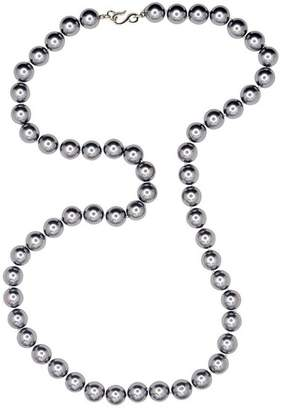 Kenneth Jay Lane 36 Grey Pearl Necklace