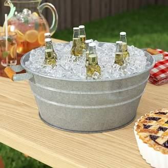 Gracie Oaks Makayla Galvanized Beverage Tub