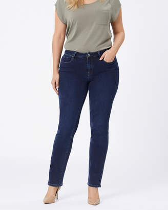 Jeanswest Curve Embacer Slim Straight jeans Deep Sea Blue