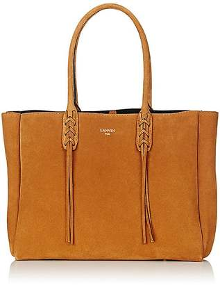 Lanvin Women's Tasseled-Handle Small Shopper Tote $1,495 thestylecure.com