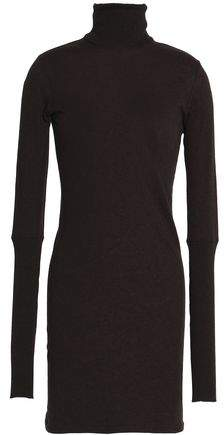 Cotton And Cashmere-Blend Turtleneck Mini Dress