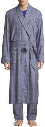Derek Rose Ranga Long Brushed Cotton Robe