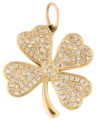 Sydney Evan 14K Diamond Clover Pendant