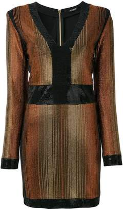 Balmain stone encrusted fitted dress