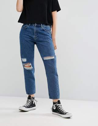 WÅVEN Aki Boyfriend Jeans with Rips