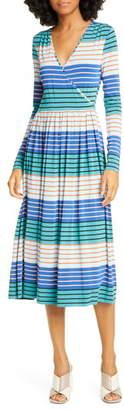 Stine Goya Alina Long Sleeve Jersey Midi Dress