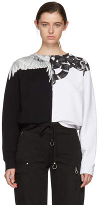 Marcelo Burlon County of Milan White and Black Snake Wing Sweatshirt