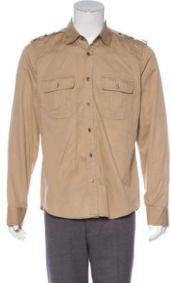 Gucci Web Military Shirt