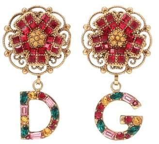 Dolce & Gabbana Floral clip-on earrings