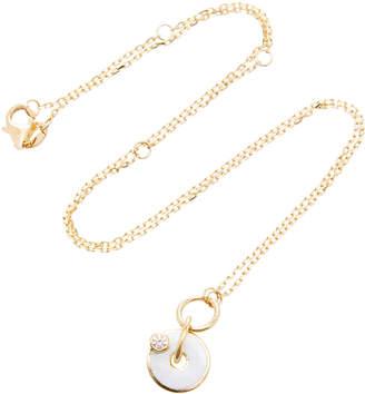 Foundrae 18K Gold Enamel and Diamond Necklace