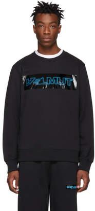 Helmut Lang Black Pigeon Crew Sweatshirt