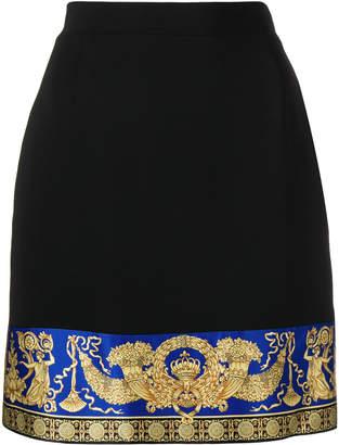 Versace Lovers print mini skirt