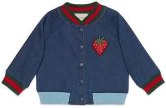 Gucci Baby jersey denim bomber jacket