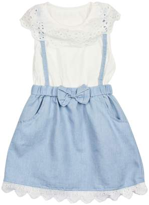 Funkyberry Scallop Cotton Top & Bow Skirt