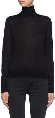 EQUIL Contrast seam wool blend turtleneck sweater