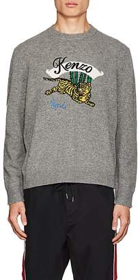 Kenzo Men's Tiger-Knit Wool Sweater
